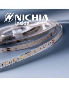LumiFlex 35 Nichia Tira LED branca quente 2700K 1220lm 24V 70 LED/m preço para 50cm (1220lm/m 9.6W/m)