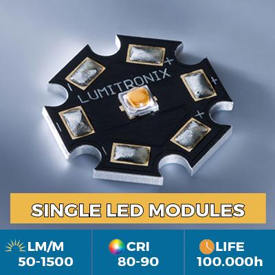 LEDs Cree e Nichia em estrela ou PCB quadrado de 1x1cm