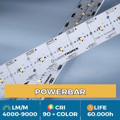 Módulos profissionais PowerBar, até 11.000 lm / m, branco, cor e luz UV