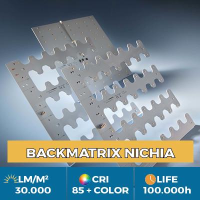 Módulos profissionais BackMatrix Nichia LED, até 39.000 lm / metro quadrado