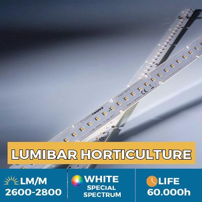 Tiras de LED Nichia Rsp0A profissionais para crescimento de plantas (horticultura), saída de luz até 2900 lm/m