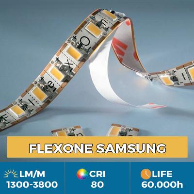 Fitas Flexíveis de LED FlexOne, podem ser cortadas em cada LED, saída de luz até 3800 lm / m