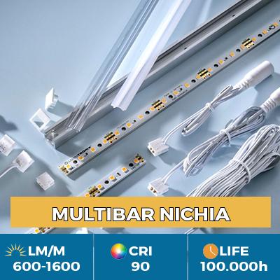 Profissional Multibar Nichia Fitas de LED, Plug & Play, CRI90+, fluxo até 1500 lm/m