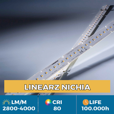 Módulos LED LinearZ profissionais, Plug & Play Zhaga, fluxo luminoso até 4100 lm / m