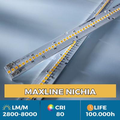 Fitas LED Maxline profissionais, Plug & Play, fluxo luminoso até 8000 lm / m