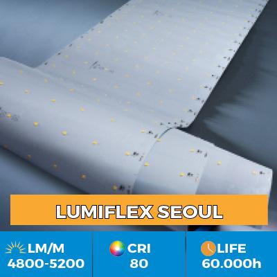 Tiras LED profissionais Z-Flex Seoul, até 6200 lm por metro, em versões de uma ou várias filas